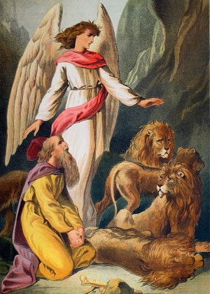Daniel in the Lion's Den. Click to enlarge. See below for provenance.