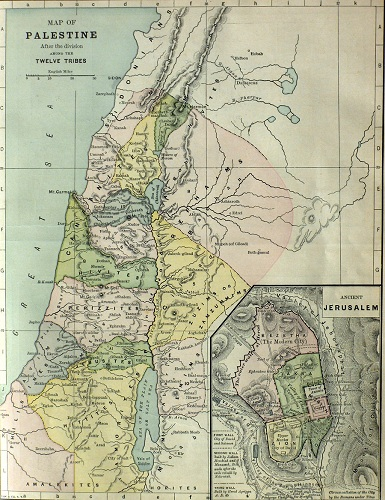 The Seven Nations of Palestine. Click to enlarge. See below for provenance.