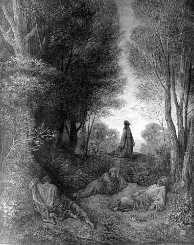 Jesus Praying in the Garden, by Gustave Dore. Click to enlarge. See below for provenance.