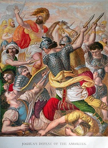 Joshua's Defeat of the Amorites. Click to enlarge. See below for provenance.