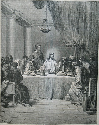 The Last Supper, by Gustave Dore. Click to enlarge. See below for provenance.