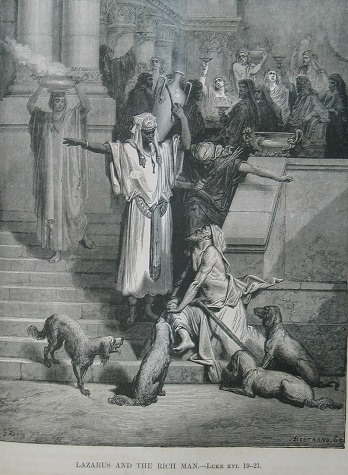 Lazarus and the Rich Man, by Gustave Doré. Click to enlarge. See below for provenance.