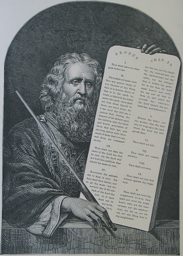 Moses with the Tablets of the Law. Click to enlarge. See below for provenance.