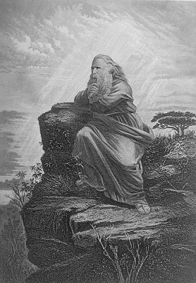 Moses on Mt. Nebo. Click to enlarge. See below for provenance.