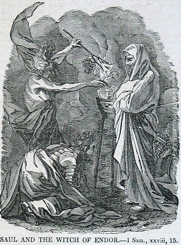 Saul and the Witch of Endor. Click to enlarge. See below for provenance.