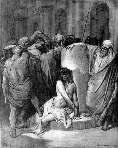 The Scourging of Jesus, by Gustave Doré. Click to enlarge. See below for provenance.