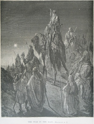 The Star in the East, by Gustave Dore. Click to enlarge. See below for provenance.