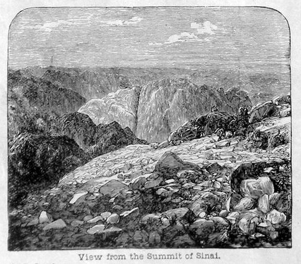 View from the Summit of Sinai. See below for provenance.
