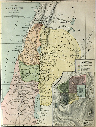 Palestine in New Testament times. Click to enlarge. See below for provenance.